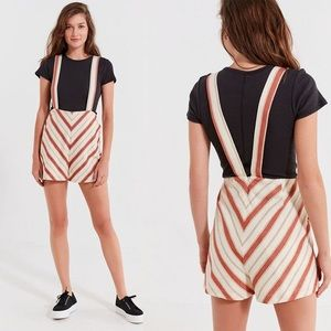 Urban Outfitters Striped Short Overall